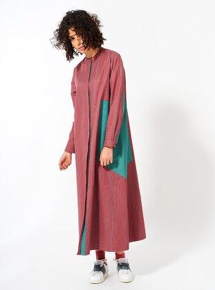 Dusty Rose - Crew neck - Unlined - Cotton - Dress