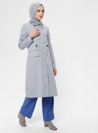 Blue - Unlined - Point Collar - Topcoat