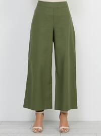Khaki - Cotton - Pants