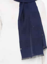 Navy Blue - Plain - Shawl