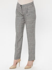 Multi - Plaid - Pants