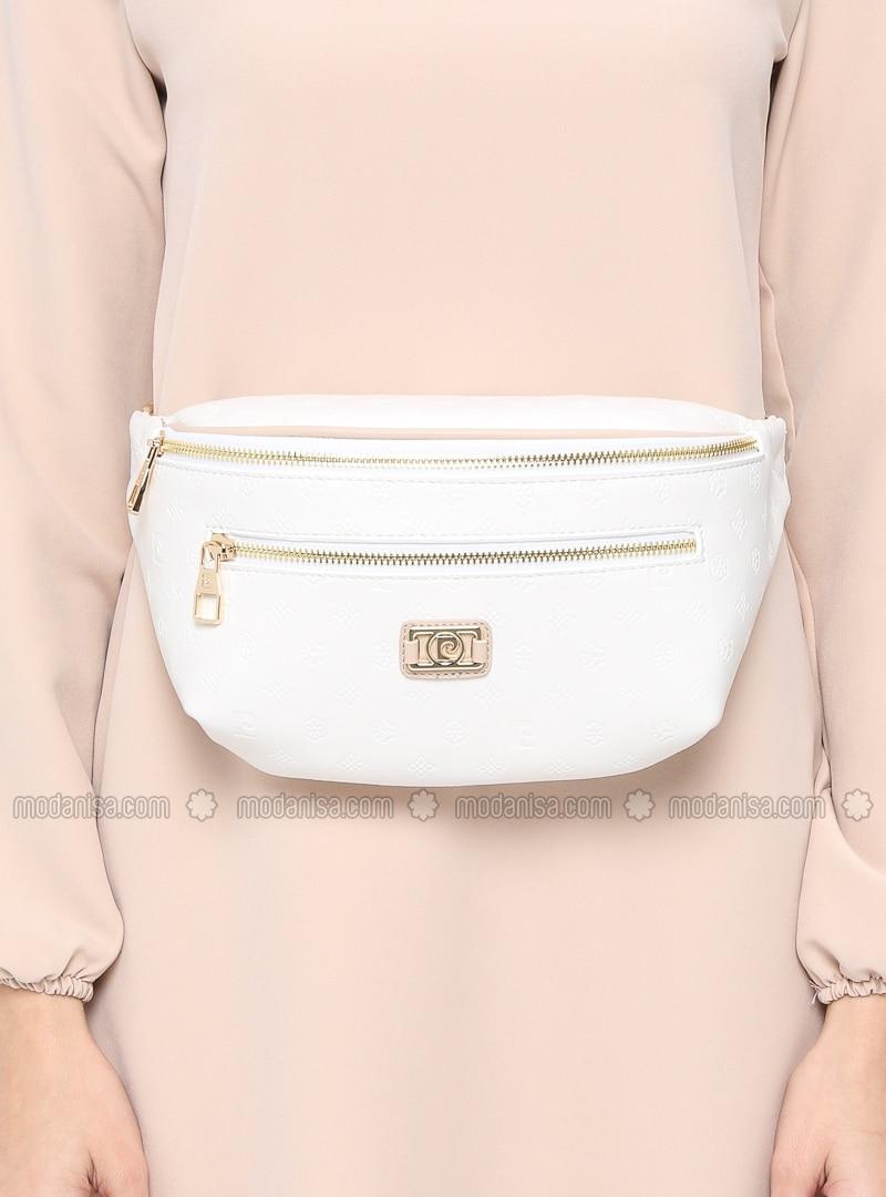 White - Ecru - Clutch - Bum Bag