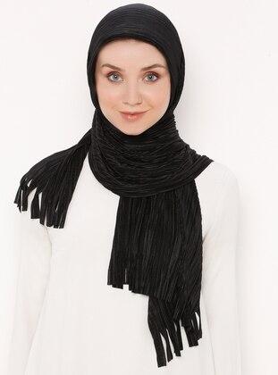 Black - Plain - Import - Shawl