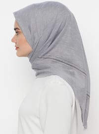 Gray - Plain - Scarf