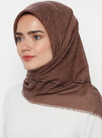 Brown - Plain - Scarf