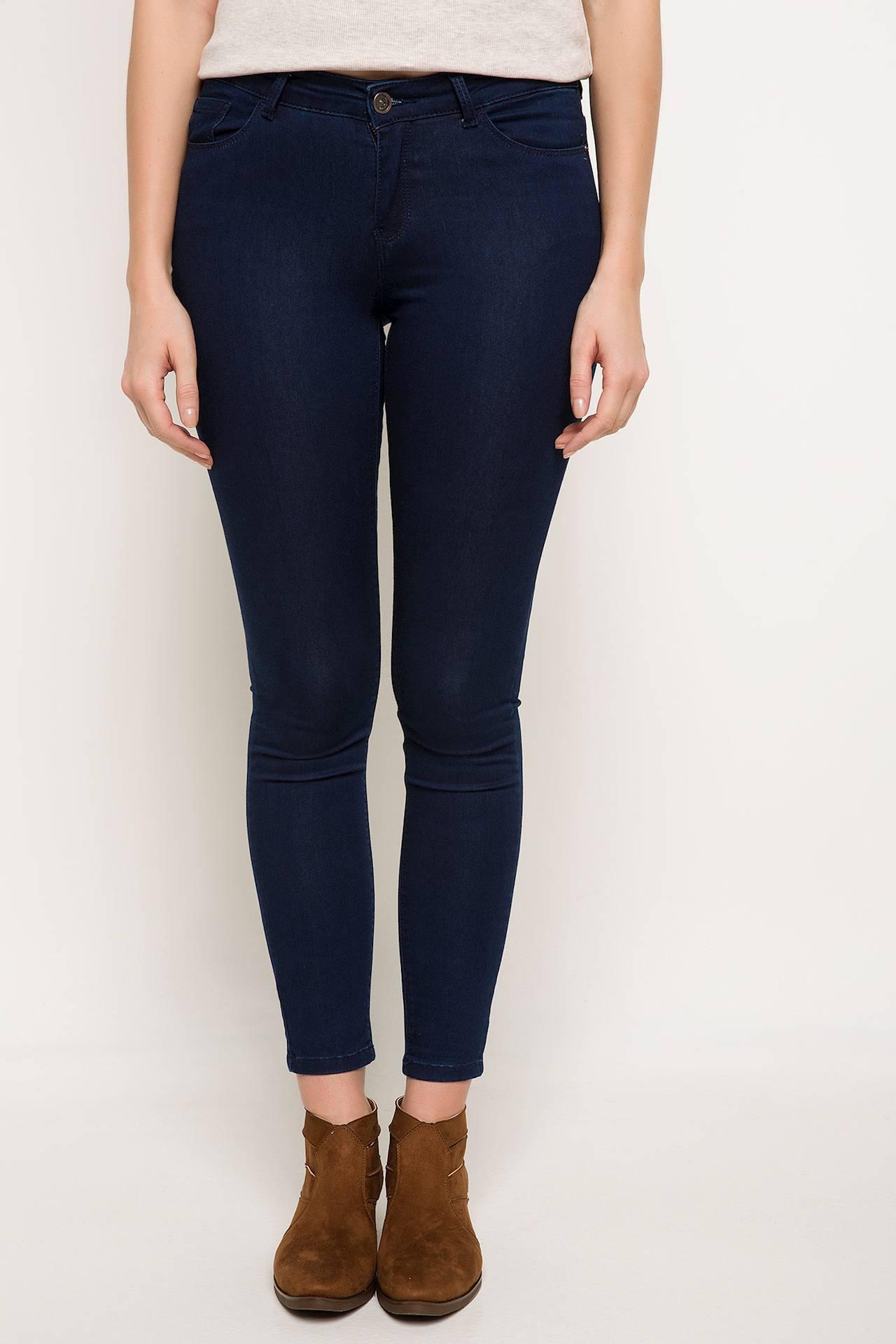 Tesettür Pantolon DeFacto Mavi Kadın 24