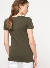 Khaki - T-Shirt
