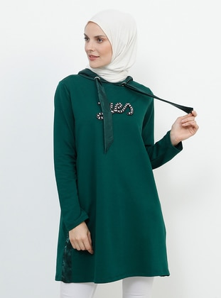 Green - Emerald - Cotton - Tunic