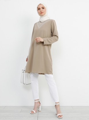 Stone - V neck Collar - Tunic