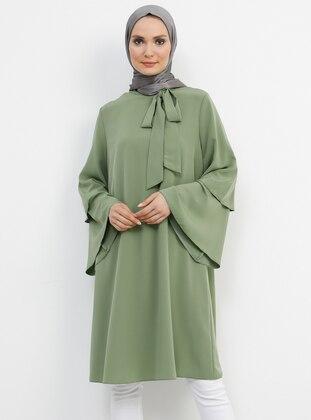 Green - Polo neck - Tunic