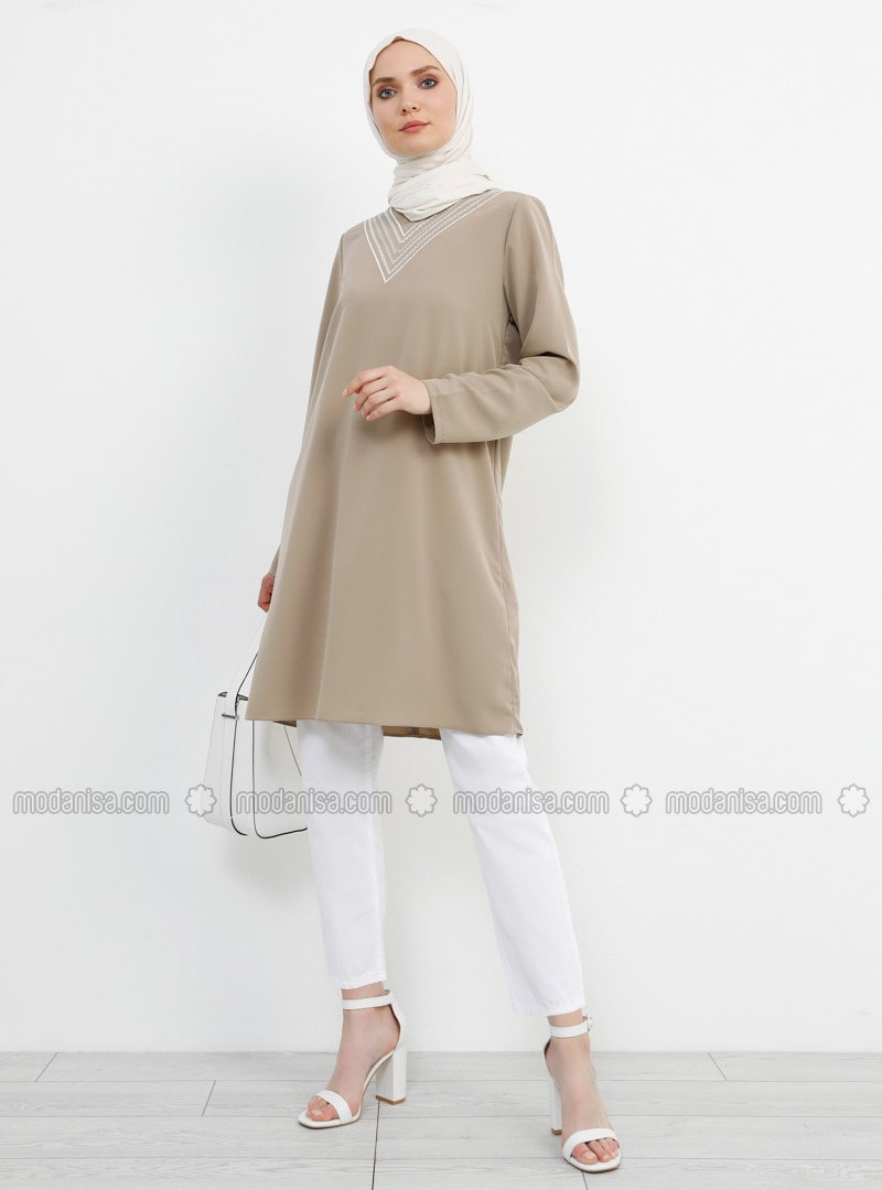 Stone - V neck Collar - Tunic