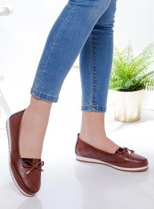 Tan - Flat - Shoes