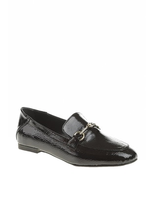 Black - Casual - Flat Shoes