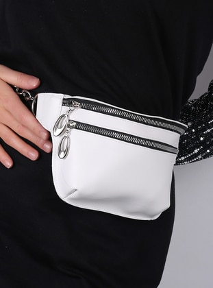 White - Satchel - Bum Bag - WMİLANO
