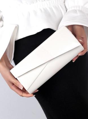 White - Ecru - Clutch Bags / Handbags