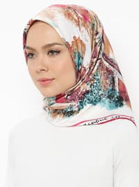 Plum - Cherry - Printed - Scarf