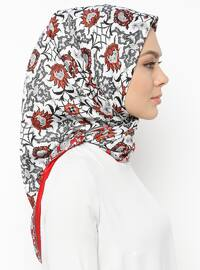 Red - Printed - Scarf