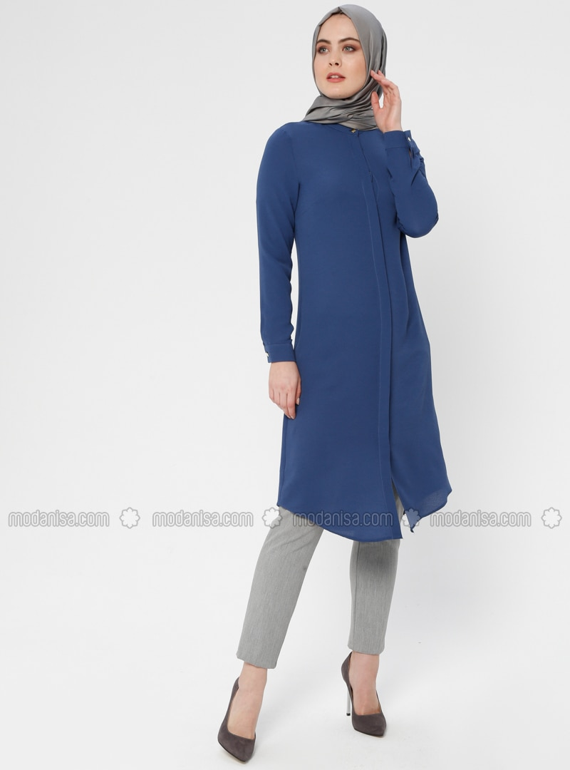 Indigo - Button Collar - Tunic - ZENANE