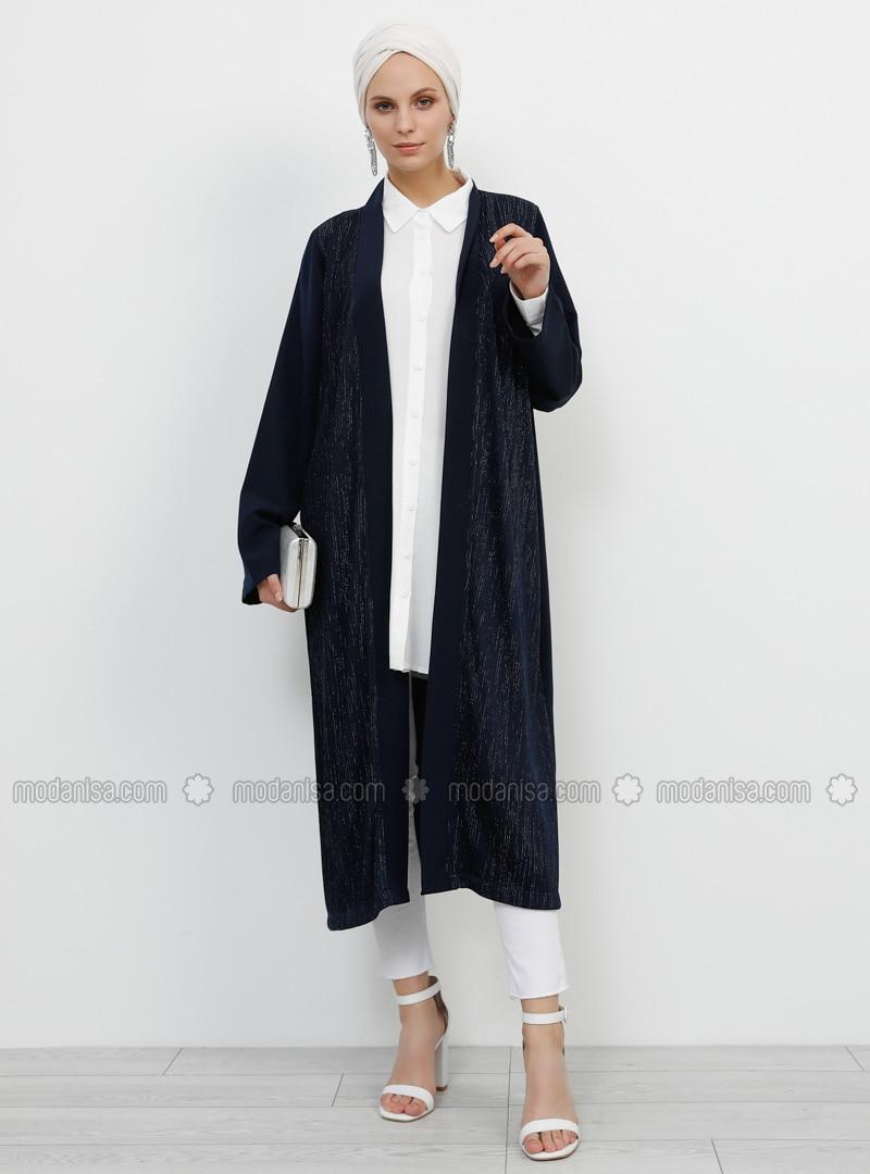 Navy Blue - Unlined - Topcoat