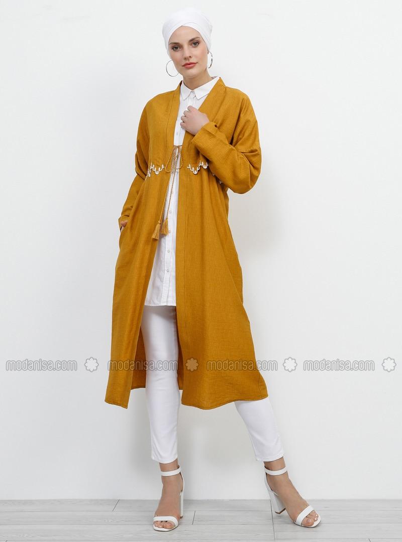 Mustard - Unlined - Viscose - Topcoat