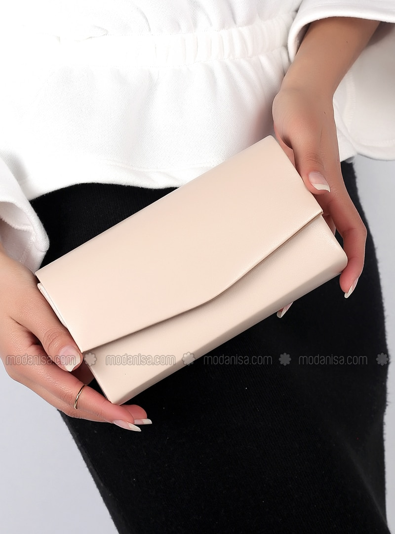Beige - Clutch Bags / Handbags