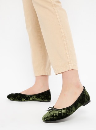 Green - Flat - Flat Shoes