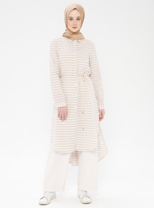 Minc - Stripe - Point Collar - Cotton - Tunic