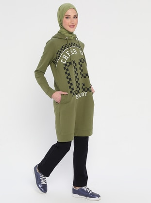 Green - Olive Green - Multi - Tracksuit Set