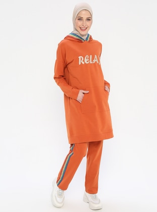 Orange - Cotton - Tracksuit Set