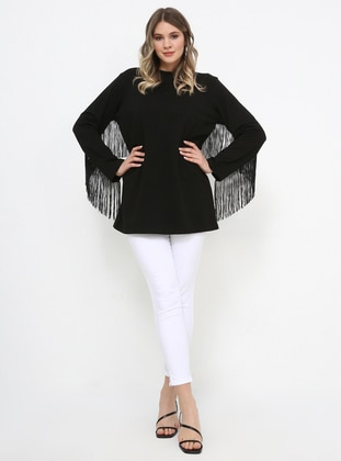 Black - Plus Size Tunic - Alia