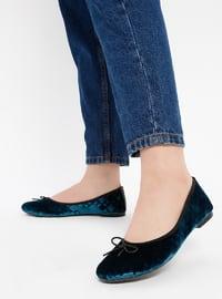 Petrol - Flat - Flat Shoes