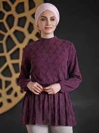 Plum - Polo neck - Blouses