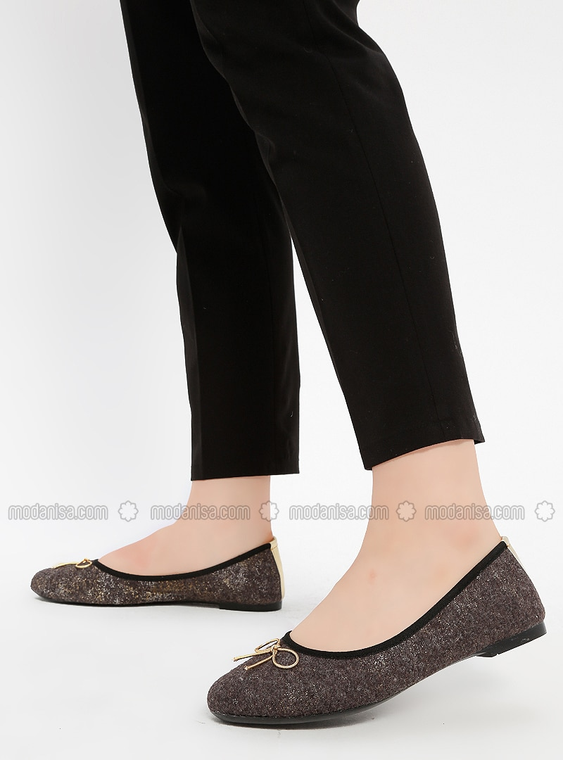 Gold - Silver - Flat - Flat Shoes