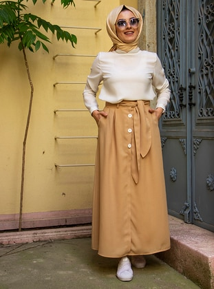 Mustard - Fully Lined - Skirt