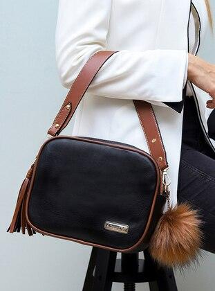 Black - Tan - Shoulder Bags