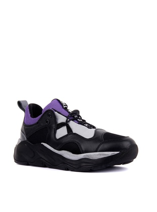 Black - Purple - Sport - Sports Shoes