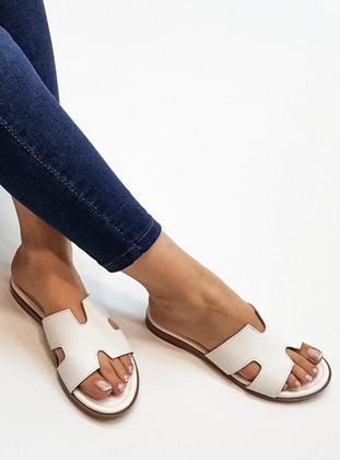 White - Sandal - Slippers - Marjin