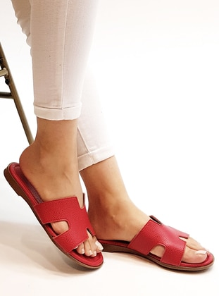 Red - Sandal - Slippers - Marjin