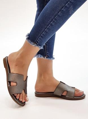 Silver - Sandal - Slippers - Marjin