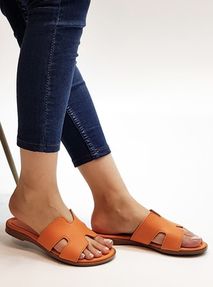 Orange - Sandal - Slippers - Marjin