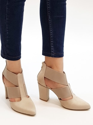 Beige - High Heel - Shoes - Marjin