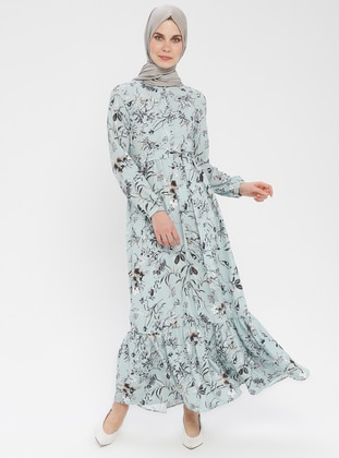 - Floral - Button Collar - Unlined - Dress