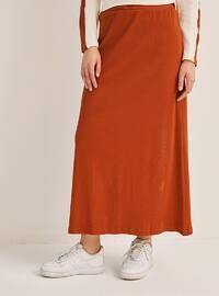 Terra Cotta - Unlined - Cotton - Skirt