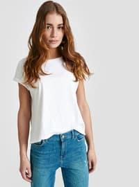 White - Crew neck - T-Shirt