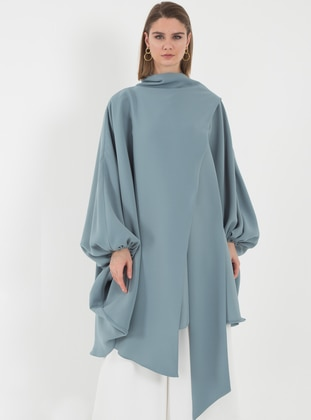 Blue - Polo neck - Tunic