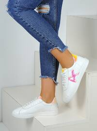 White - Gold - Casual - Shoes