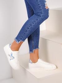 White - Lamé - Casual - Shoes