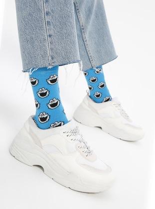 Blue - Cotton - Socks