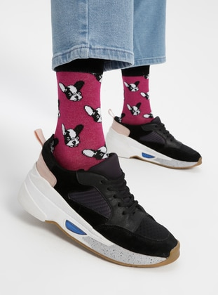 Pink - Cotton - Socks