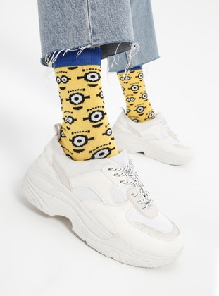 Yellow - Cotton - Socks
